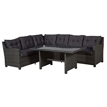 Amazon.de: Rattan Gartenmöbel Dining-Lounge-Set OUTLIV. Aboyne ...