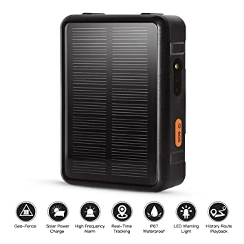 Autopmall GPS tracker Solar GPS Locator for Vehicle for Cow Sheep