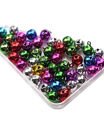 Romote 10 Piezas Coloridas Mini Navidad de los cascabeles pequeño de la Manera Campanas de Metal