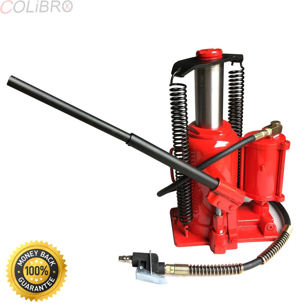 COLIBROX--20 Ton Air Manual Power Over Hydraulic Jack Portable Low Profile Bottle Lifting. 20 TON AIR MANUAL POWER OVER HYDRAULIC PORTABLE LOW PROFILE BOTTLE JACK LIFT.