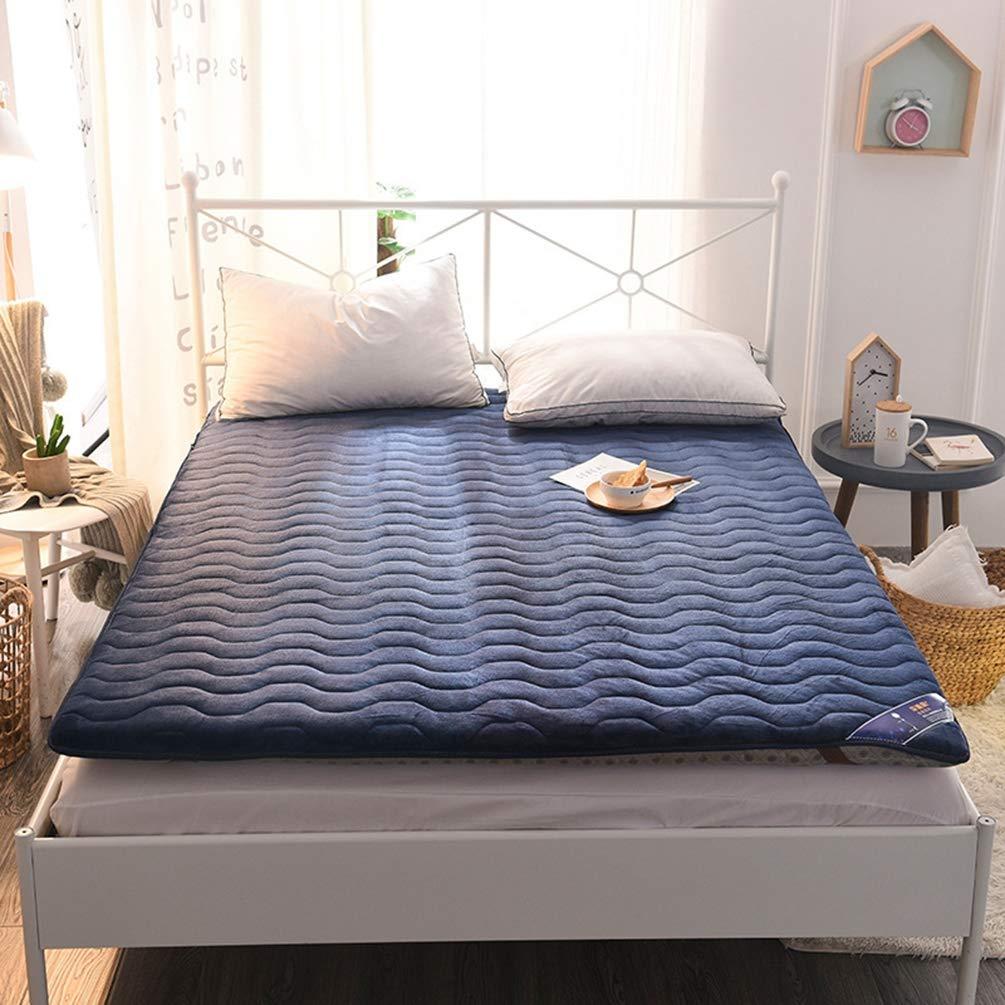 WENYAO Thick Non-Slip Folding Colchones, Flannel Multi ...