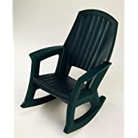 Semco Plastics SEMG Extra Large Recycled Plastic Resin Durable Outdoor Patio Rocking Chair, Dark Green