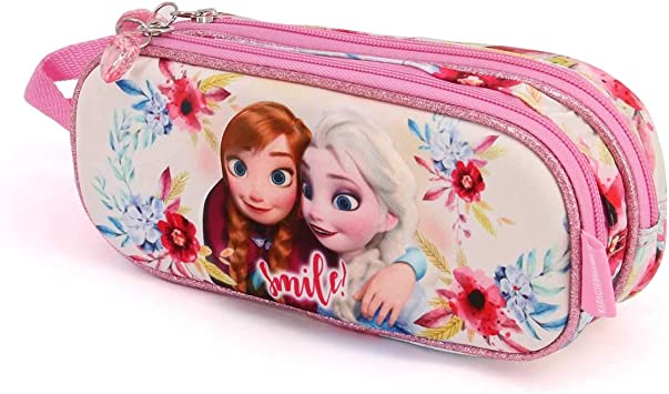 Karactermania Frozen Smile-astuccio Portatutto 3D Doppio Estuches 22 Centimeters Multicolor (Multicolour): Amazon.es: Equipaje