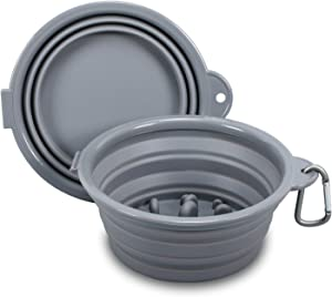 N/E Collapsible Dog Bowl Travel Pet Bowls Slow Feeder Pet Bowls Two in one Easy to Assemble and disassemble Easy to Carry