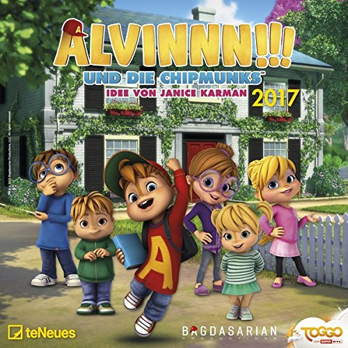 Alvinnn!!! und die Chipmunks 2017 - Broschürenkalender, Kinderkalender, Wandkalender  -  30 x 30 cm