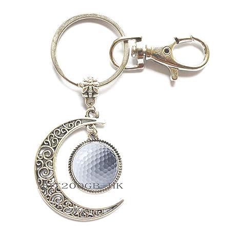 Amazon.com: Llavero de golf con luna de golf, regalo de golf ...
