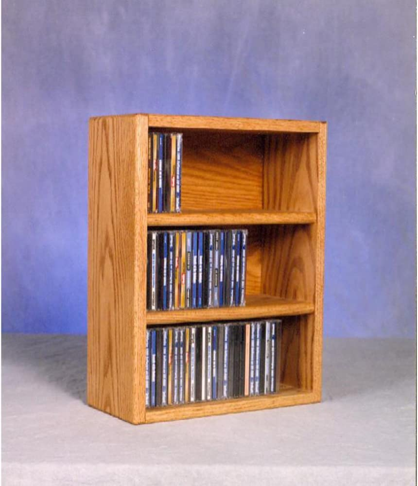 Wood Shed Solid Oak Desktop or Shelf CD Cabinet Honey Oak