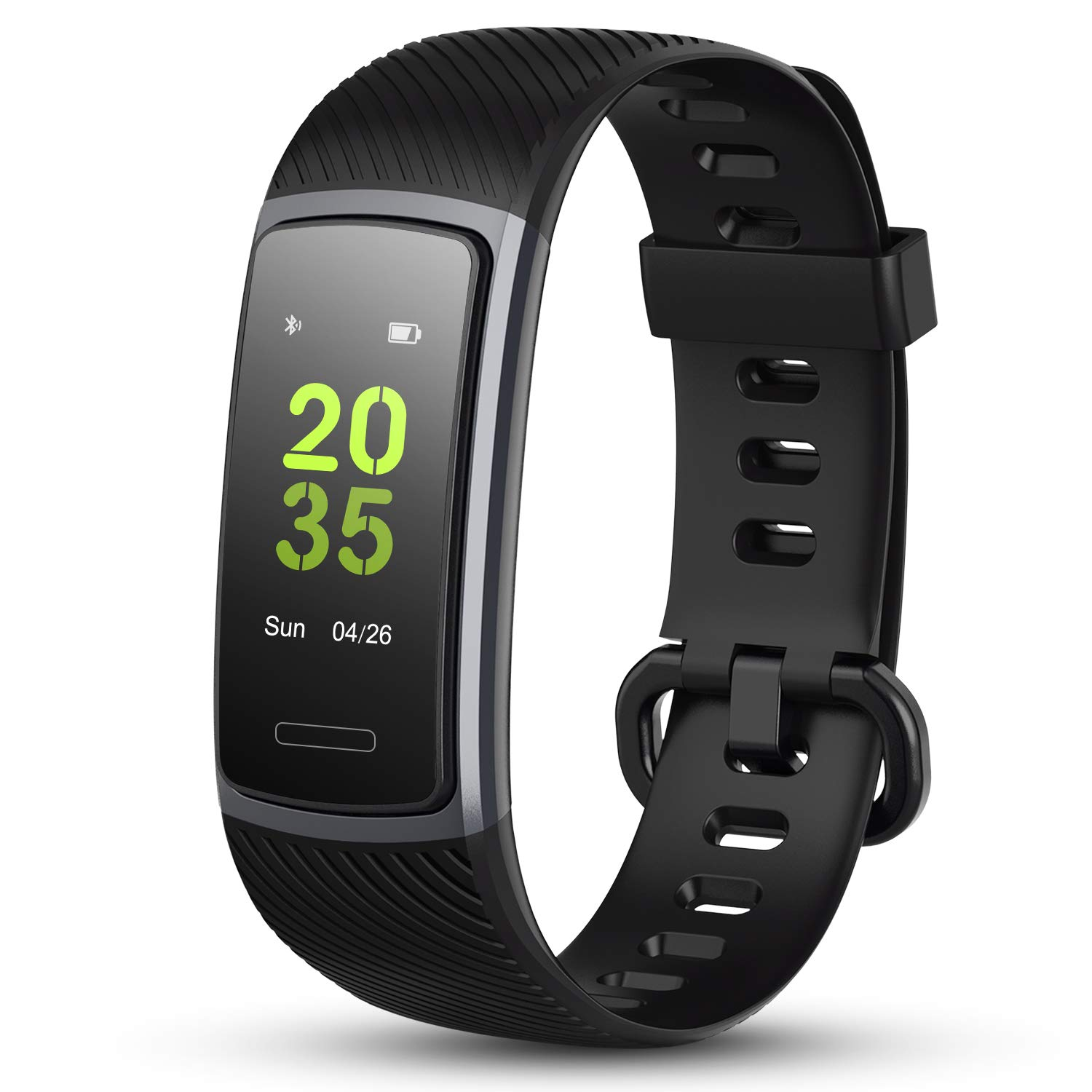 LETSCOM Fitness Tracker HR, IP68 Water Resistant Color Screen Activity Tracker Smart Watch with Heart Rate Monitor Step Counting Sleep Tracking Calorie Counter Pedometer Wrist Band for Women Men Kids