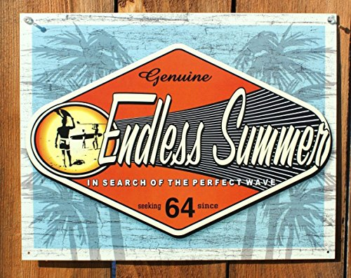 Endless Tin Summer - Poster Discount Endless Summer - Genuine Metal Tin Sign 16W x 12.5H, 16x13, 16x13