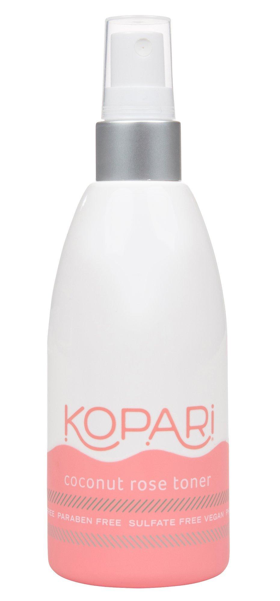 Kopari Coconut Rose Toner - Revitalize and Restore Skin + Calming Witch Hazel - Natural astringent, Non GMO, Vegan, Cruelty Free, Paraben Free and Sulfate Free, 5.1 Oz