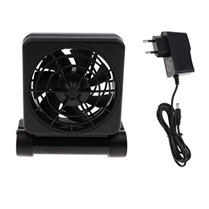 perfk Ventilador de Enfriamiento Tanque de Peces Enfriamiento Acuario con Adaptador 12V - 1 Ventilador