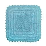 Ikea Bathroom Sink DII 100% Cotton Crochet Square Luxury Spa Soft Bath Rug, For Bathroom Floor, Tub, Shower, Vanity, and Dorm Room, 24x24
