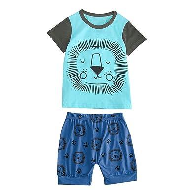 a10a627a091d Amazon.com  Kehen Kid Toddler Boy Girl Summer Clothes 2pc Cartoon ...