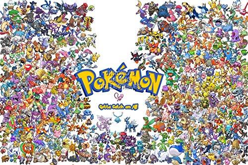 "Price comparison product image CGC Huge Poster - Pokemon Gotta Catch em All! Nintendo Game Boy GB GBC GBA DS 3DS - EXT100 (16"" x 24"" (41cm x 61cm))"