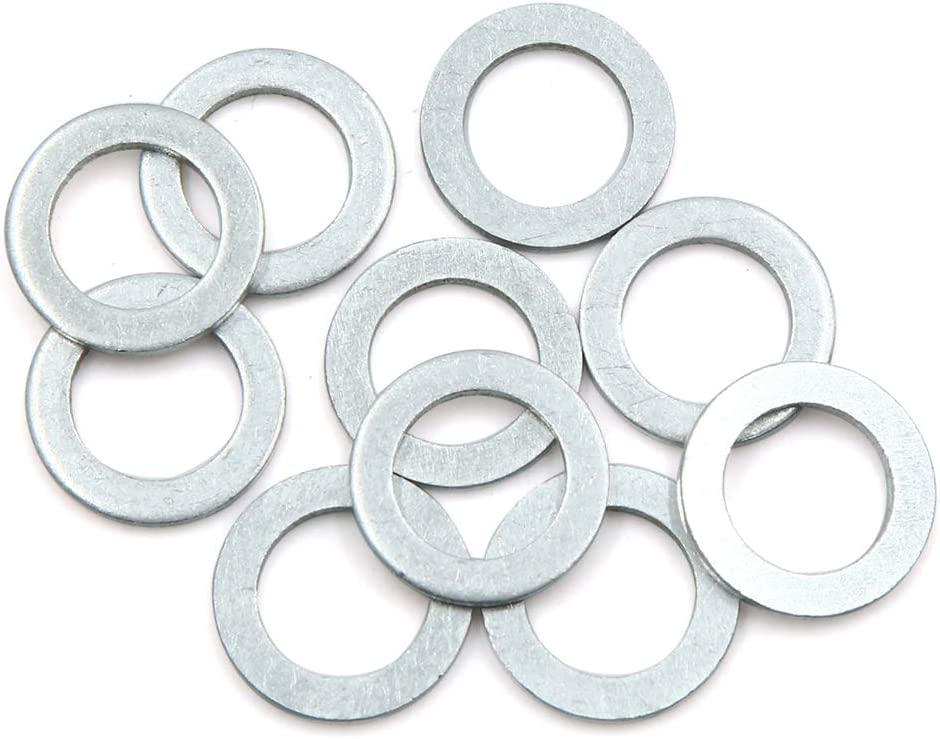 Aluminum Alloy for Car 22mm OD X AUTOHAUX 10pcs Engine Oil Crush Washers Drain Plug Gaskets 16mm ID
