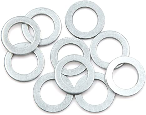 10 rondelle di Scarico per Olio Motore Diametro Esterno: 22 mm. 14 mm ID AUTOHAUX