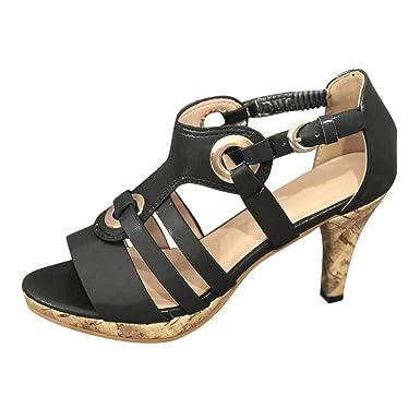 9d64703f817ed Amazon.com: Kenvina Sandals for Women's,Elegant Buckle Strap Ankle ...