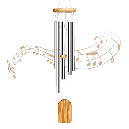 PATHONOR Wind Chimes Outdoor, Amazing Grace Wind Chime 6 Metal Tubes Wind  Chimes Outdoor Best Gift for Mom Family, Friends, Children, Lovers,