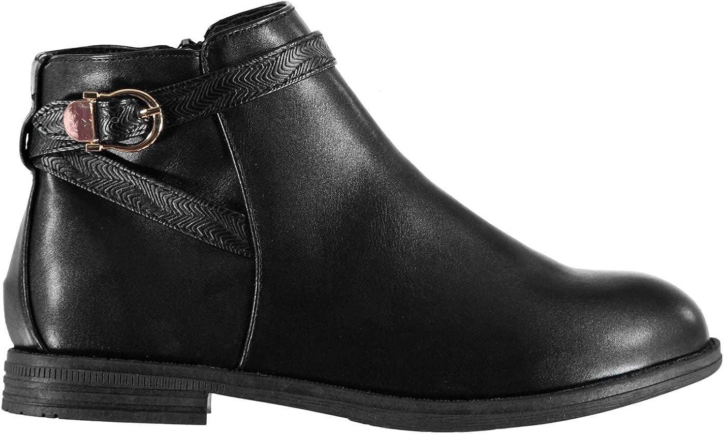 miso Girls Buckle Child Boots Black