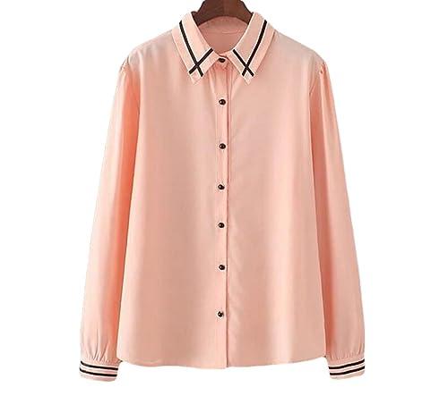 De Gran Tamaño Mujeres Delgadas Camisa Coreano Salvaje Gasa Renderizado Camisas Blusas