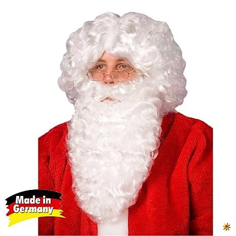 Barba de Santa Claus y la peluca del traje blanco Santa Navidad Carnaval