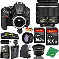 Great Value Bundle for D5500 DSLR – 18-55mm AF-P + 2PCS 16GB Memory + Wide Angle + Telephoto Lens + Backpack