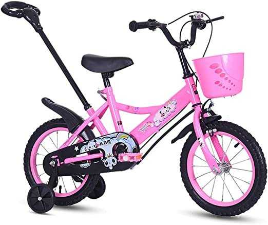 Bicicletas para niños Guo Shop 12/14/16 Pulgadas Bicicleta 2-3-5-7 años de Edad Niños y niñas niños Preescolar Carro de bebé con Varilla de Empuje: Amazon.es: Jardín
