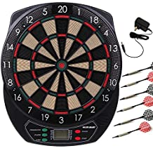 WIN.MAX Electronic Soft Tip Dartboard Set LCD Display with 6 Darts, 40 Tips, Power Adapter (Electronic Dart board)