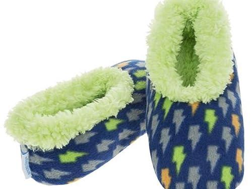 Snoozies - Zapatillas de estar por casa para niño Lightning Bolts: Amazon.es: Zapatos y complementos