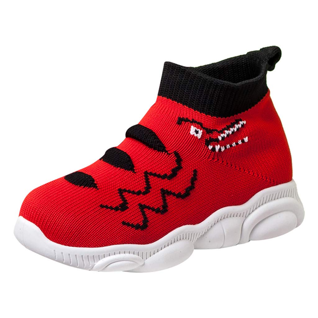 Kids Running Shoes Lightweight Breathable Casual Athletic Walking Sneakers Slip-on Socks Shoes for Boys and Girls Mesh Soft Sole Sport Socks Shoes Sneakers by Lucoo Baby Shoes