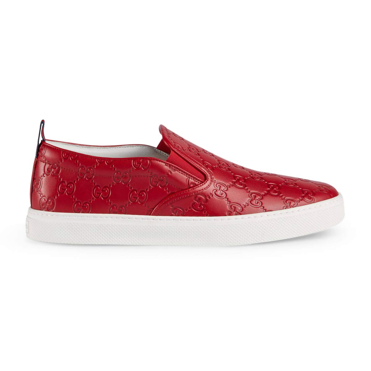 18dc598ba Amazon.com: Gucci Men's Dublin Signature Slip-On Sneaker, Red (12 US / 11.5  UK): Shoes