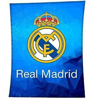 Real Madrid manta polar Fleecedecke 120x150cm RM1008: Amazon.es: Deportes y aire libre