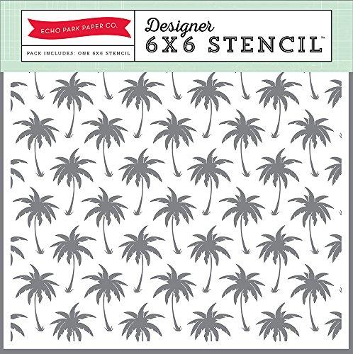 Echo Park Paper Company Echo Park Paper Palm Trees Decorative Stencils, 6