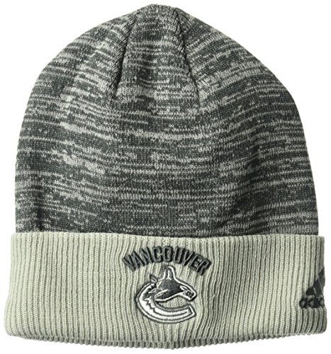 fan products of NHL Vancouver Canucks Adult Men Pro Authentic Travel & Training Cuffed Beanie, One Size, Gray