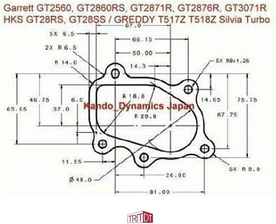 TRITDT Turbo Turbine Gasket Kit Fit Garrett GT25 GT28 GT30 TRUST Greddy T518Z HKS GT28RS SR20DET