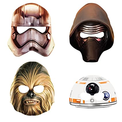 image about Star Wars Printable Mask called Star Wars Social gathering Masks, 8ct