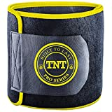 TNT Waist Trimmer Ab Belt: Stomach Fat Burner & Toner ? Extra Wide to Cover Entire Midsection ? Uniquely Designed to Repel Sweat & Moisture w/ Anti-Slip Grid Technology ? No Slipping or Movement of Fabric! Premium Body Shaper, Slimmer & Sweat Wrap with Back Support - All Backed By Our Life-time Money Back Guarantee
