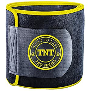 TNT Pro Series Waist Trimmer Weight Loss Ab Belt - Premium Stomach Fat Burner Wrap and Waist Trainer (X-Small)