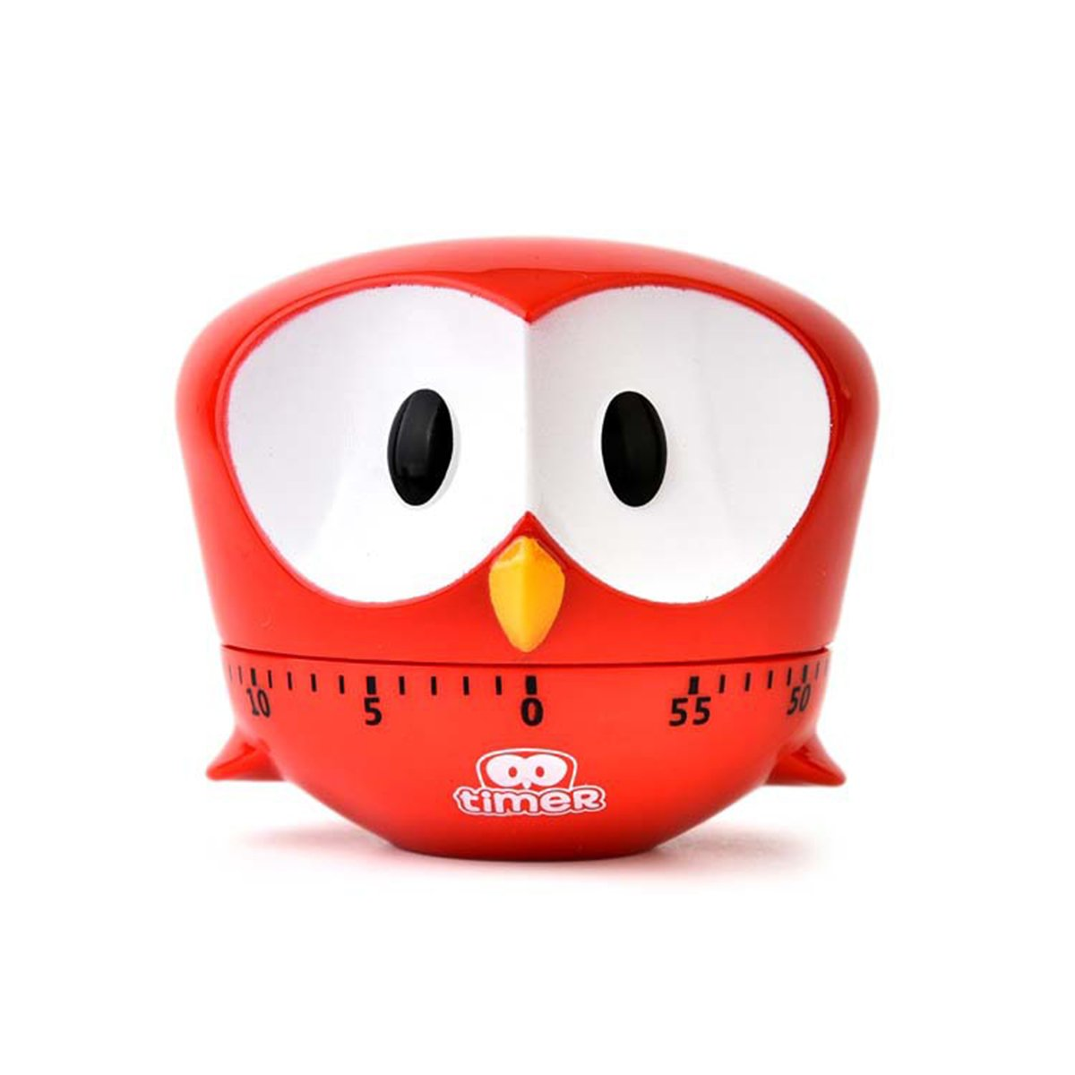 Cute Animal Egg Timer,Lovely Owl Countdown Kitchen Timer,0~60 Minutes Timer (Red)