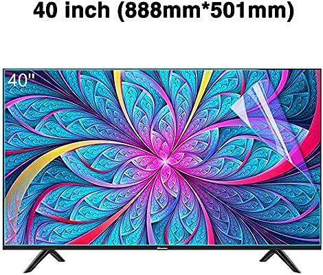 DPPAN 40 Pulgadas Antirreflejos TV Protección de Pantalla para Televisor, Ultra Claro LED Película Protectora Anti Luz Azul, LCD Anti Arañazos Screen Protector, Protección Ojos,A: Amazon.es: Electrónica
