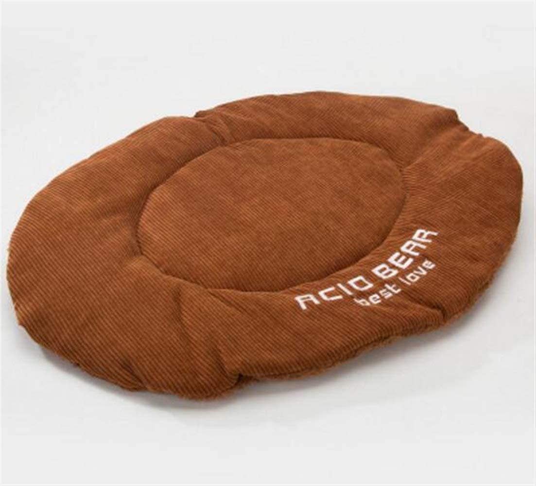CFHJN HOME Fleece Mat Bed Pet Dog Cat Sleeping Blanket Bed(Brown) Pet Bed Blanket