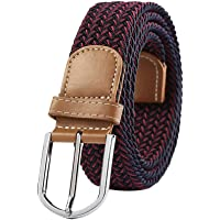 BIGBOBA Unisex Braided Elastic Belts cinturón Tejido
