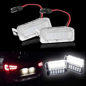 Wallfire Luz de la Placa de luz LED 18LED 6000K luz Trasera para Ford Fiesta Focus C-MAX Kuga Mondeo Galaxy MK4: Amazon.es: Coche y moto