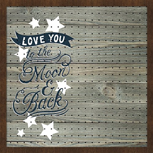 New View Love You To The Moon And Back Peg Board 22.5x22.5 inches (01-HV-13041)