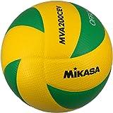 MIKASA 米卡萨 排球 5号 欧洲联盟比赛用球 黄/绿 MVA200EV