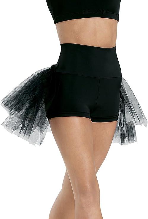Balera Dance Shorts with Fringe Accent