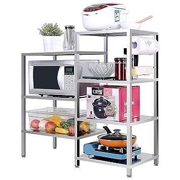 ACZZ Nuevo estante de cocina de acero inoxidable, espacio de ...