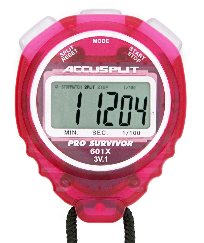 ACCUSPLIT Pro Survivor - A601X Stopwatch, Clock, Extra Large Display (Cherry)