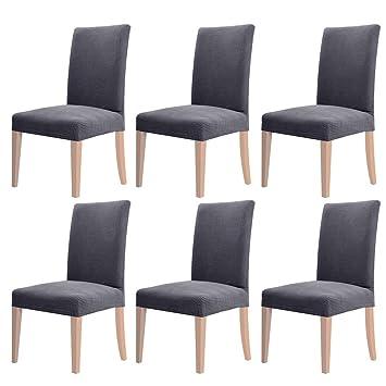 Schon YISUN 4er/6er Set Stretch Kurze Esszimmer Stuhlhussen, Abnehmbare Waschbar  Stuhlbezug Stuhl Schutzhülle Für