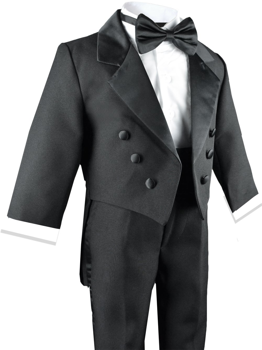 Boys Black Tuxedo with Tail Outfit Set Size 8